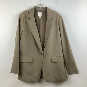 H&M Single Breasted Blazer in Taupe